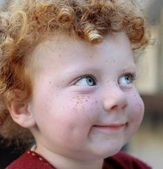 Adorable Cabbage Patch Ginger Child (Dimples, Freckles & Curls) <3