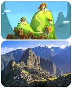 Rabisquei meu Horizonte: Locais reais que inspiraram animações da Disney