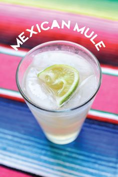 Mexican Mule cocktail. Lime, ginger beer, tequila, yum. // www.cupcakesandcutlery.com