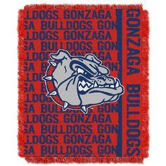 Gonzaga Bulldogs NCAA Triple Woven Jacquard Throw (Double Play Series) (48x60)