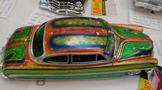 is type of work I would think came from an older guy that could have been a custom van painter in the Lowrider Model Cars, Diecast Model Cars, Custom Paint Jobs, Custom Vans, Hobby Cars, Plastic Model Cars, Kustom Kulture, Car Wrap, Art Model