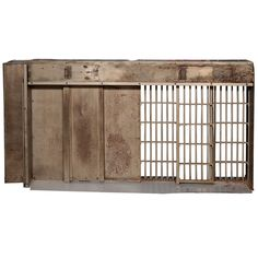 Salesman Sample Prison Door 1920's  A working model of a prison door, probably carted around selling a newer, better version of a prison door.