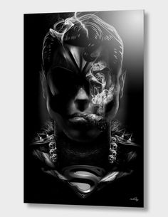 """SUPERMAN"", Limited Edition Aluminum Print by Nicolas OBERY - From $110.00 - Curioos"