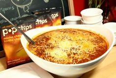 all-beef chile colorado with nacho cheese tortilla popchips #tailgating #football
