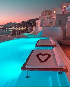 "LUXEGUURLS ® LONDON on Instagram: ""Tag someone ! 😍 follow @luxeguurls 🔥 Photo cred- @kardinalmelon"" Vacations To Go, Vacation Places, Honeymoon Destinations, Dream Vacations, Vacation Spots, Santorini, Mykonos Greece, Mykonos Island, Resorts"