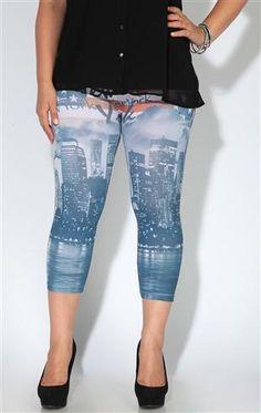 Deb Shops plus size americana seamless legging $16.90
