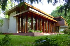 The Bachman Wilson House Designed by Frank Lloyd Wright 1954