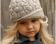 Knitting PATTERN-The Cadryen Cloche' Toddler by Thevelvetacorn