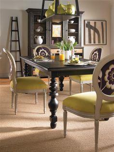 Vanguard Furniture: Room Scene VGF_RS_216  Chairs: solid and pattern fabrics