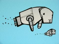 Robots and manatees are basically my 2 most favorite things ever.