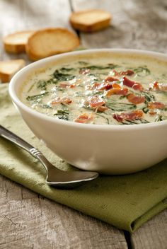 With The Prerequisite Amount Of Cheese And Bacon, This Spinach Dip Knocks It Out Of The Park!