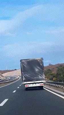 Truck in the wind