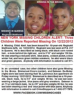2 of these boys have been found. One is still missing.
