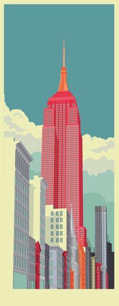 New York illustrations on Behance