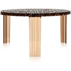 Kartell T-Table ($235) ❤ liked on Polyvore featuring home, furniture, tables, accent tables, amber, kartell side table, kartell furniture, kartell table, top table and kartell