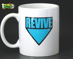 REVIVE ME! If youve ever played a co-op or multiplayer game then you know the feeling. Action is going on all around you, but there you are- downed by some stupid zombie and waiting for someone or something to revive you. In real life, coffee provides that early morning revive and this funny 11 oz coffee mug lets the world know... you need a little Revive! This coffee mug comes in 4 optional colors- Blue, Red, Yellow or Green and has the Revive symbol on it. This is the perfect gift for any…