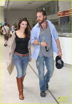 Love Charlotte Riley's style and she has the perfect accessory; Tom Hardy!