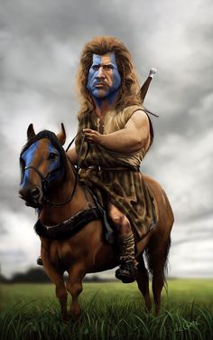 """Mel Gibson as William Wallace in """"Braveheart"""" Cartoon Faces, Funny Faces, Cartoon Art, Cartoon Characters, Caricature Artist, Caricature Drawing, Funny Caricatures, Celebrity Caricatures, Famous Cartoons"""