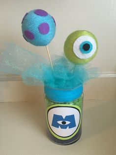 Monsters Inc - Centerpiece Monsters Inc Girl, Monsters Inc Doors, Monsters Inc Baby Shower, Disney Monsters, Baby Shower Party Favors, Baby Shower Fun, Baby Shower Parties, Baby Shower Themes, Monster Inc Birthday
