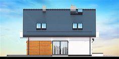 Elewacja lewa projektu Galilea BIS Blinds, House Plans, Multi Story Building, Outdoor Decor, Home Decor, Mlb, Houses, Facades, Decoration Home