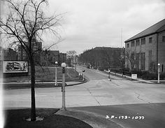Irving Park Road and Marine Drive, looking North on IPR, in 1936.