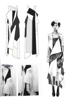 Beautiful fashion presentation board
