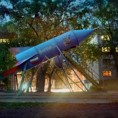 Russian play-park rocket