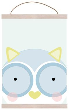 owl poster print