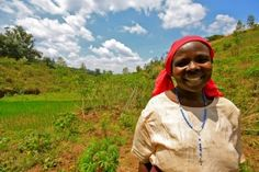 Rwandan farmer who benefited from insurance. Credit, One Acre Fund. Sustainable Intensification, Socio-Economic Intensification, creating enabling environments, micro-insurance CASE STUDY