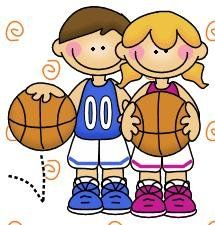 imagen de niños haciendo deporte para imprimir; Imagen de niños jugando al baloncesto