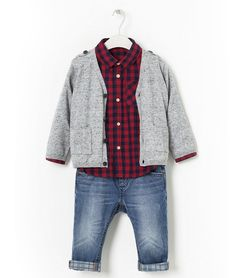 Adorable fall/winter 2013 styles at ZARA for baby boy through toddlers -- the cuffed jeans are adorable!