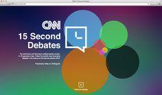 CNN 15 Second Debates - powered by Video on Instagram by Kai Heuser, via Behance