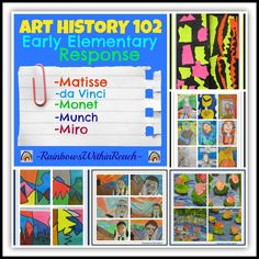 Art Masters in Early Elementary: Art History 102 Art History Memes, Art History Lessons, History Timeline, Art Critique, Art Curriculum, School Art Projects, School Ideas, Art Lessons Elementary, Preschool Art
