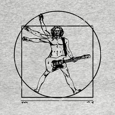 Check out this awesome 'Vitruvian+Rocker' design on Graffiti Art, Street Art Banksy, Symbole Tattoo, Tatuagem Old Scholl, Music Tattoo Designs, Music Drawings, Music Illustration, Rock Posters, Art Sketchbook