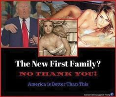 It's not a family, it's a made-for-tv slutfest.  Any man who lusts after his own daughter doesn't belong in the White House.