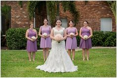 purple bridesmaid dresses // photo by Life's Highlights
