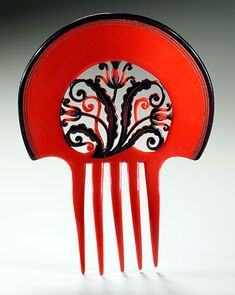 Art Deco Hair Comb Auguste Bonaz
