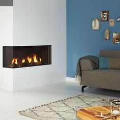 DRU Global 100 BF 2 Sided Glass Built in Balanced Flue Gas Fire