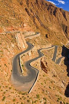 Serpentine road in the Dades Gorge, Morocco, North Africa, Africa