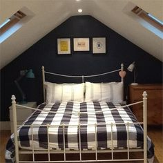 An inspirational image from Farrow and Ball--great color bedrooms stiffkey Master Bedrooms Decor, Bedroom Decor, Stiffkey Blue, Bedroom Loft, Blue Bedroom Design, Blue Bedroom, Boys Bedrooms, Home Decor, Room