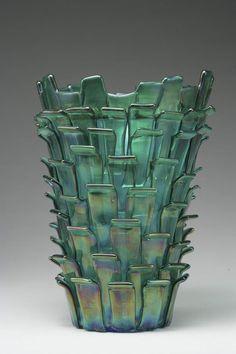 Fulvio Bianconi glass vase for Venimi 1989