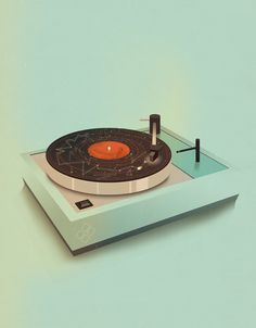 jackmrhughes:    Pick Me Up // Turntable    I was at this years Pick Me Up at Somerset House as part of my illustration agency YCN. I had three prints for sale, they can still be purchased through the YCN shop.