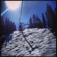 #beautiful #bluebirdday #chairlift #march #mountain #moguls #springskiing #ski #snowbird #steeperthanitlooks