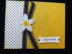 Handmade ~BIRTHDAY~ Card EMBOSSED Stampin Up! Butterfly