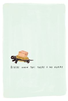 """""""rivers know this: there is no hurry""""  illustration by grace lee."""