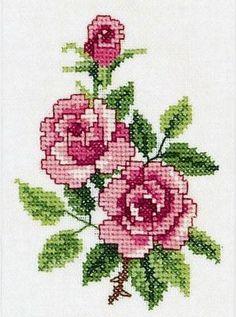 Kanaviçe gül mini tablo