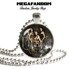 Charmed Pendant Charmed Ones Necklace Round Glass Pendant Piper Prue Phoebe Paige