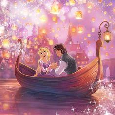 I See The Light- Rapunzel and Flynn Rider's romantic moment Disney Rapunzel, Disney Pixar, Deco Disney, Film Disney, Disney Princess Art, Best Disney Movies, Princess Rapunzel, Disney Fan Art, Disney And Dreamworks