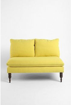 Settee- i wish it had arms. but i kind of love the pop of yellow*?