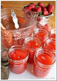 Super Simple Strawberry Freezer Jam Recipe - made in less than 30 min!